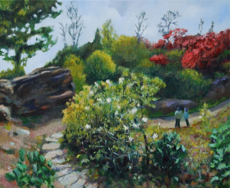 The Quarry Garden At Scotney Castle, Kent, Painting by Brian Hanson | Artfinder