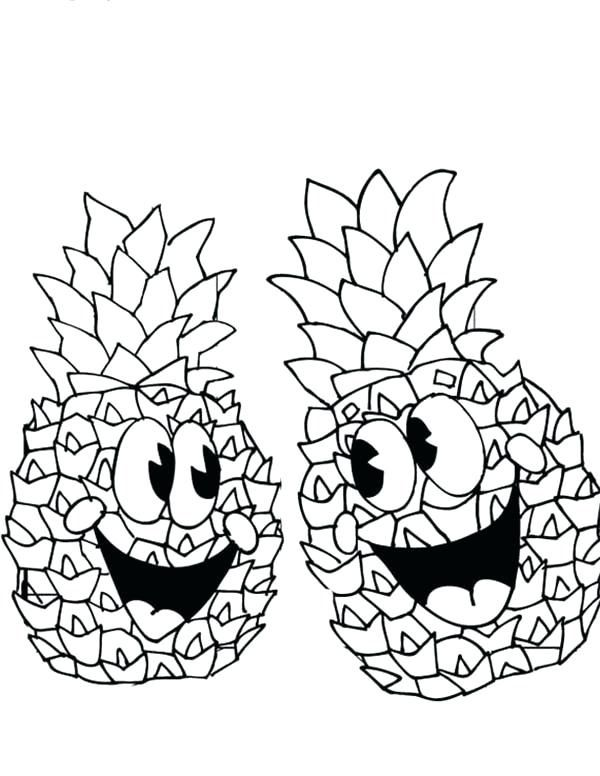 Printable Pineapple Coloring Pages For Kids Online Coloring