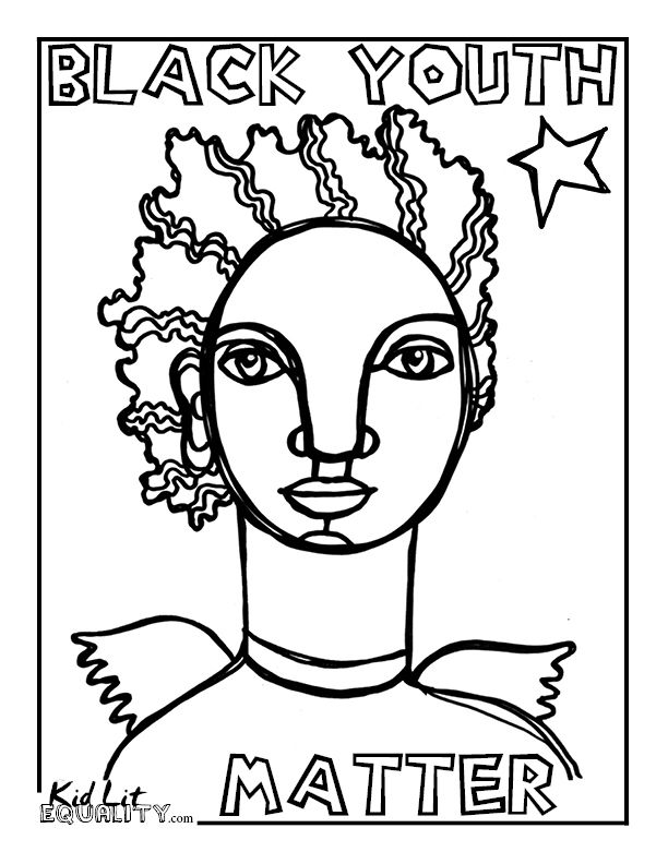 black youth matter coloring pages