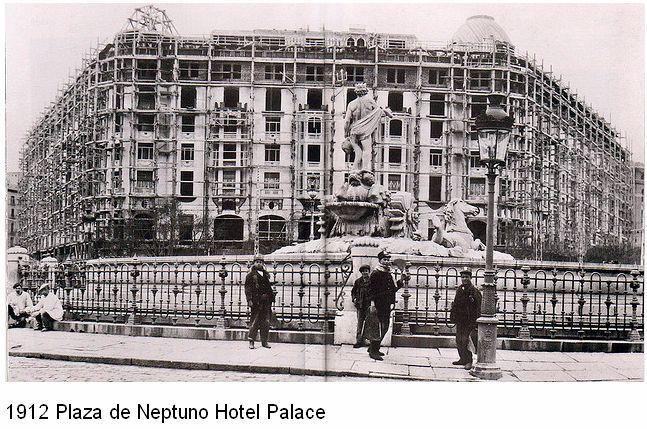 Madrid - Plaza de Neptuno, 1912 - Hotel Palace