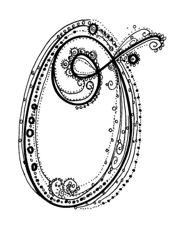 Fancy O Letter Tattoo Design Bild Tattoo Lettering Fancy