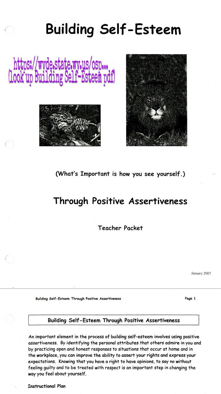 1000 Ideas About Self Esteem Worksheets On Pinterest