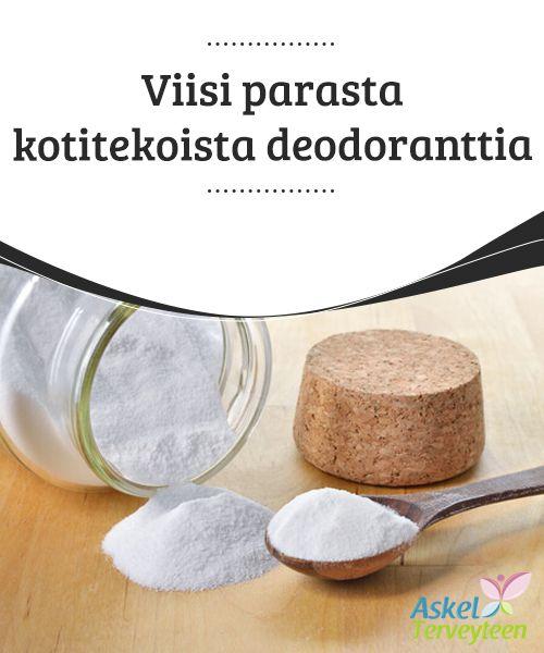 Viisi parasta kotitekoista deodoranttia  Henkilökohtaisesta hygieniasta #huolehtiminen on erittäin tärkeää terveyden kannalta. Etenkin deodoranttien käyttö auttaa meitä tuntemaan olomme paremmaksi, lisäämään #itseluottamustamme ja estää pahojen hajujen muodostumisen, joita läheisemme pitävät #epämiellyttävinä. Siksi esittelemme alla viisi parasta kotitekoista deodoranttia ja kerromme, miten valmistaa niitä.  #Kauneus