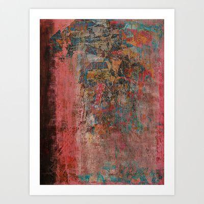 Elegante Signora in un Giorno Piovoso Art Print Promoters