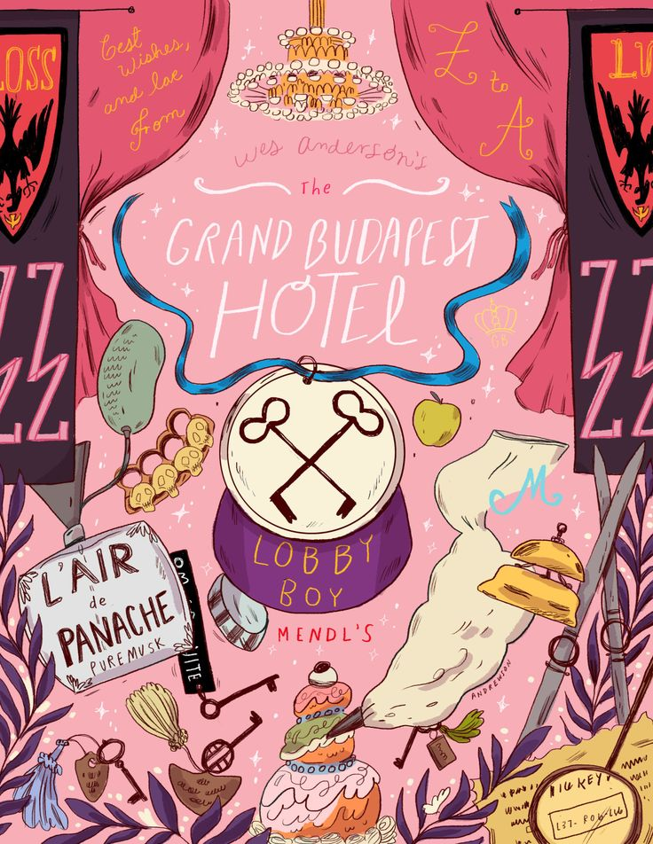 My Grand Budapest Hotel poster for Geeksboro Coffee House! I've also…
