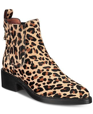 b2f49d378916 Shop COACH Bowery Chelsea Leopard Ankle Booties online at Macys.com. Sleek  lines and a hanging logo charm update the classic Chelsea boot inspiration  of ...