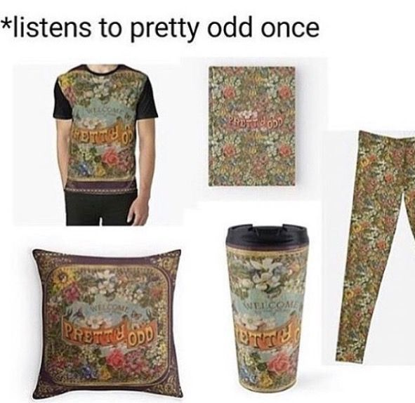 What I really want is a pretty odd crock top. Album covering the front, and either the shade of purple from the album or the floral designs on the back