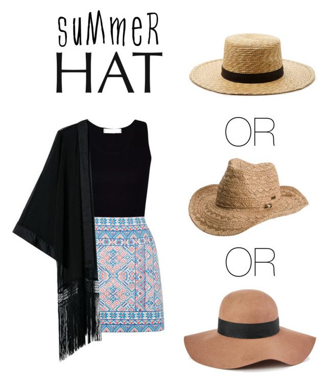 """Untitled #11"" by nastja-pessi on Polyvore featuring Janessa Leone, Oasis, Roxy, Reiss and summerhat"