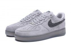 Nike Air Force1 x Reigning Champ Suede Light Grey Black