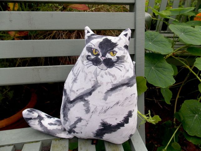 Salvador, Hand Painted Fabric Cat. £24.42