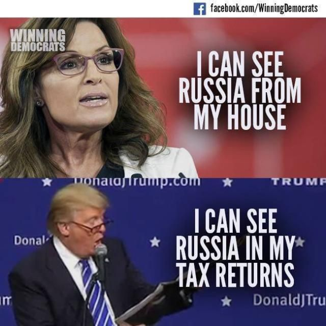 Funny Donald Trump Memes and Viral Images: I Can See Russia