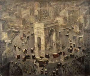 """Aleksander Jędrzejewski """"Łuk Triumfalny w Paryżu"""" (ok. 1932), Muzeum Śląskie w Katowicach"""