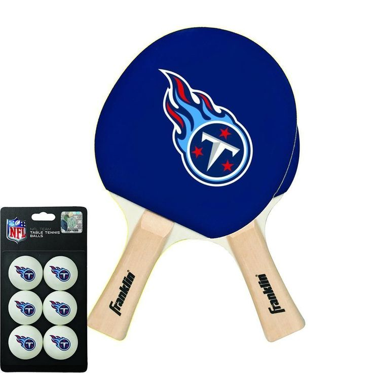 Tennessee Titans NFL Table Tennis Paddles and Balls Set (2 Paddles and 6 Balls )