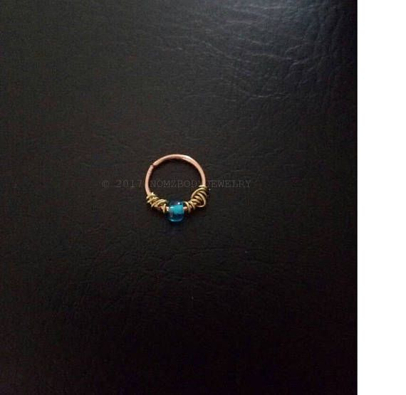 """20g 18g 16g 5/16"""" 8mm 3/8"""" 10mm  14kt Rose Gold Filled Dainty Septum Cartilage Nose Ring Daith Helix Tragus Lip Nose Ring Body Jewelry"""