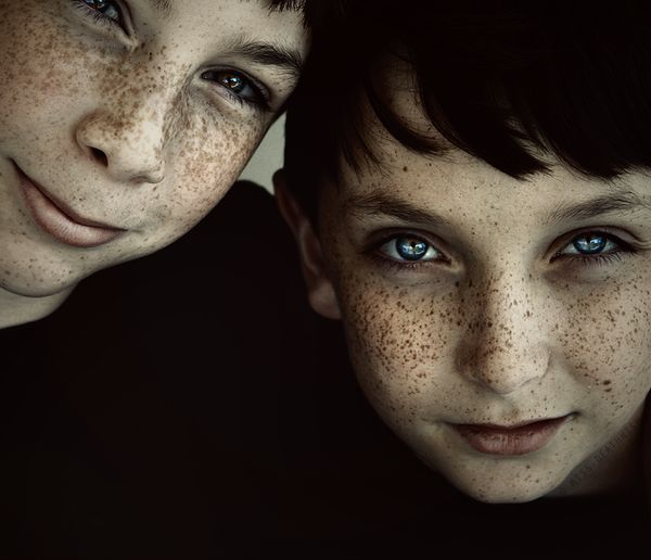Brothers.  Love, love, love the selective desaturation to bring out those freckles and eyes!