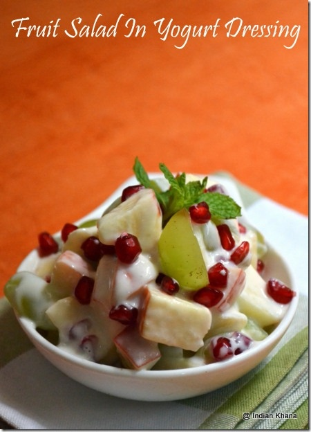 Fruit Salad In Yogurt Dressing ~ Navratri Fasting Recipe