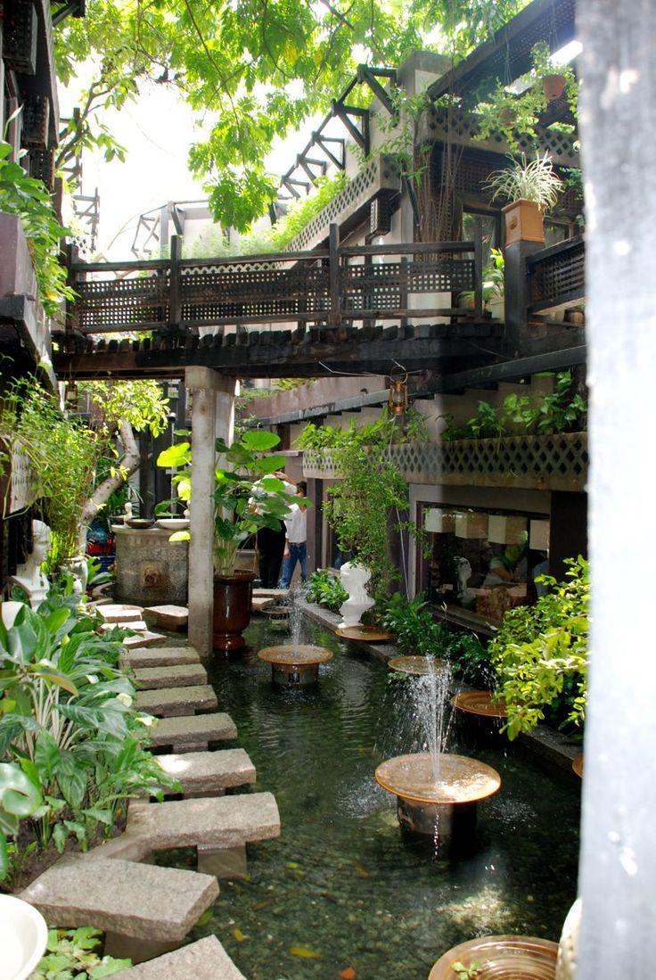 สวนสวย น้ำตกสวนหย่อม, บริเวณนอกบ้าน, การออกแบบสวน