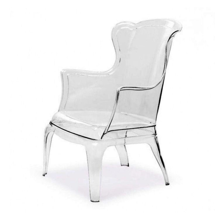 modern lucite wingback chair clear acrylic 725