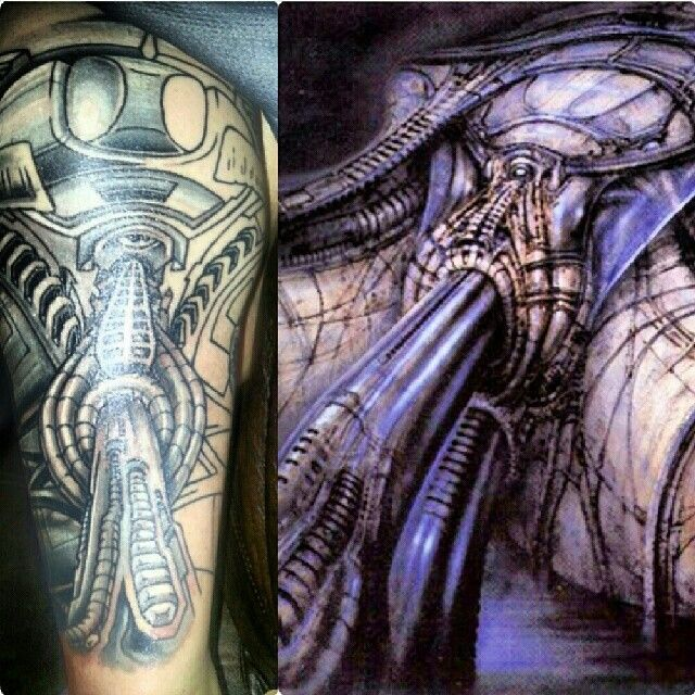Top 25 ideas about Giger Tattoo on Pinterest | Hr giger ... H.r. Giger Tattoo