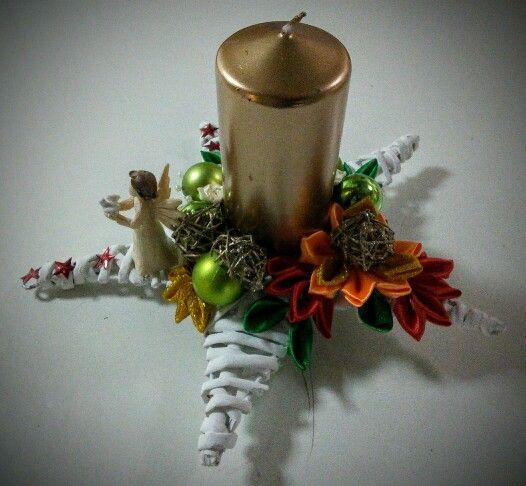 Vianočná svieca s anjelom