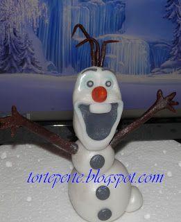 Torte per te: Olaf in pasta di zucchero