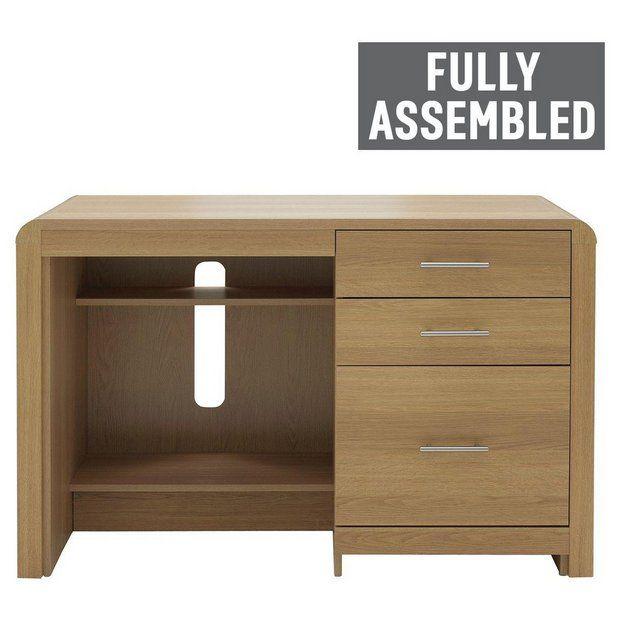 Buy Heart Of House Elford Desk   Oak Effect At Argos.co.uk