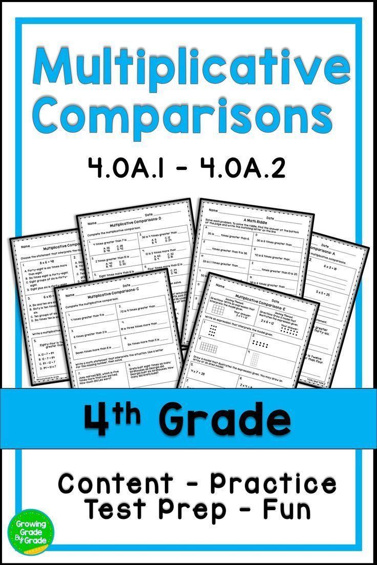 Multiplicative Comparison Worksheets Multiplicative Comparison Word Problems Word Problem Worksheets