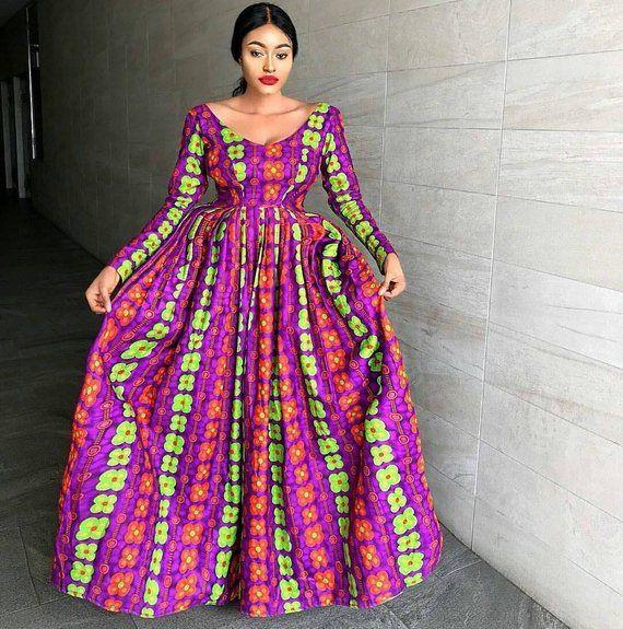 Arike Maxi Dress Ankara Dress African Print Maxi Dress