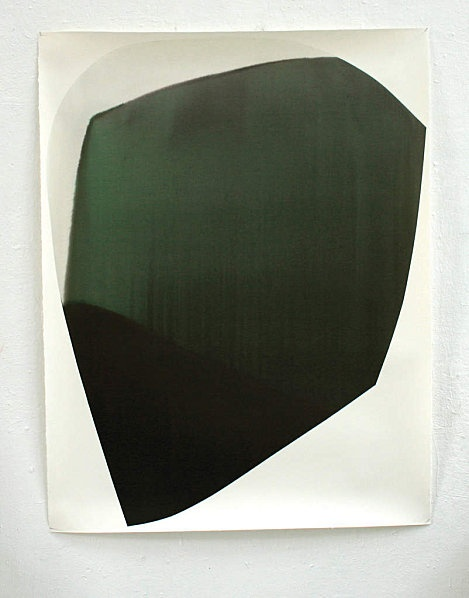 'CXV' (2011) by French painter Claire Chesnier. ink on paper, 147 x 114 cm. via the artist's site
