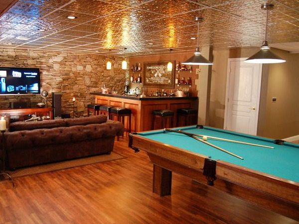 Nice man cave for the husband and his manly man friends to hang out