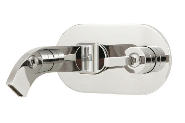 Single hole lavatory faucet by Aquabrass / Cut Collection
