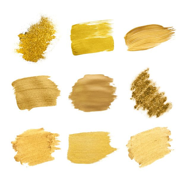 Download Gold Brush Strokes Collection For Free Vector Free Brush Strokes Free Vector Illustration