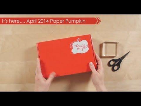April 2014 Paper Pumpkin Kit