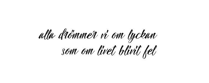 Everybody dreams of happiness, as if life turned out wrong (swedish lyrics)  Lars Winnerbäck - Aldrig riktigt slut