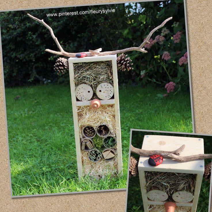Bricolage avec les enfants, hôtel à insectes. http://www.pinterest.com/fleurysylvie/mes-creas-deriendutout/