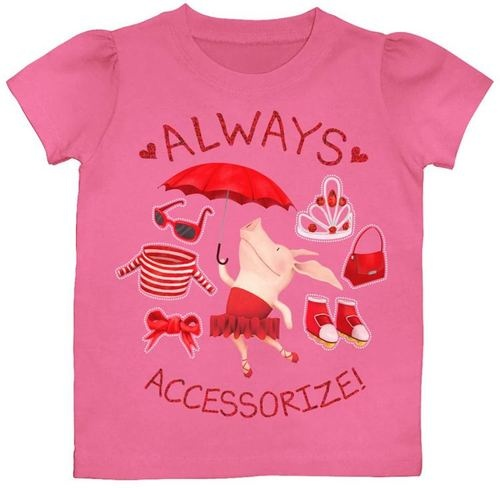Olivia The Pig Nickelodeon Girls T Shirt Accessorize 2T 3T 4T 5T | eBay