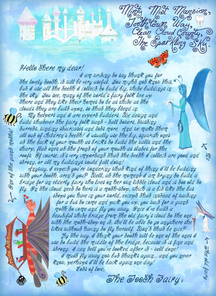 8 best tooth fairy images on pinterest teeth dental and for Fairy letters