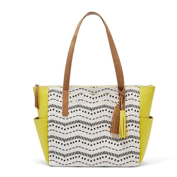 Relic Piper Tote ($27) ❤ liked on Polyvore featuring bags, handbags, tote bags, drk yellow, faux leather tote bag, yellow tote, purse tote, zip tote bag and yellow tote bag