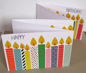 Geburtstagskarte mit (vielen) Kerzen