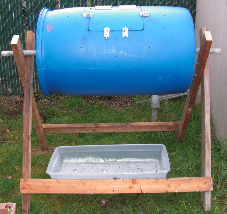 DIY Compost Tumbler made from a 55-Gallon Food Grade Barrel: Garden Ideas, Diy Compost, Garden Outdoor, Food Grade, Backyard Garden, Outdoors Garden, Grade Barrel, 55 Gallon Food