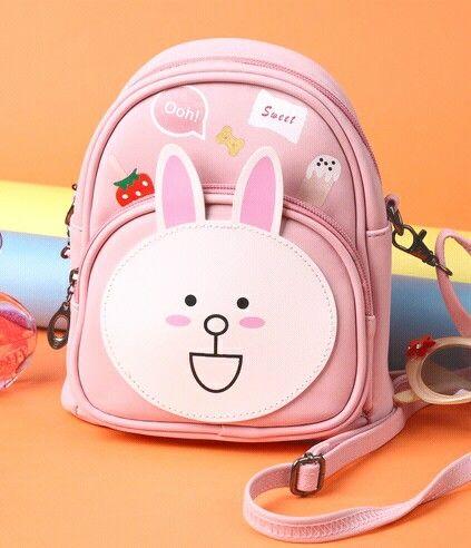 Animal Rabbit Monkey Women Leather Backpack Cute Cartoon School Bags For Teenagers Girls Kawaii Children Backpacks