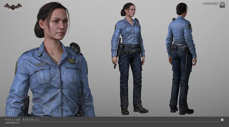 ArtStation - Arkham Knight - Female Cop, Meng Guan
