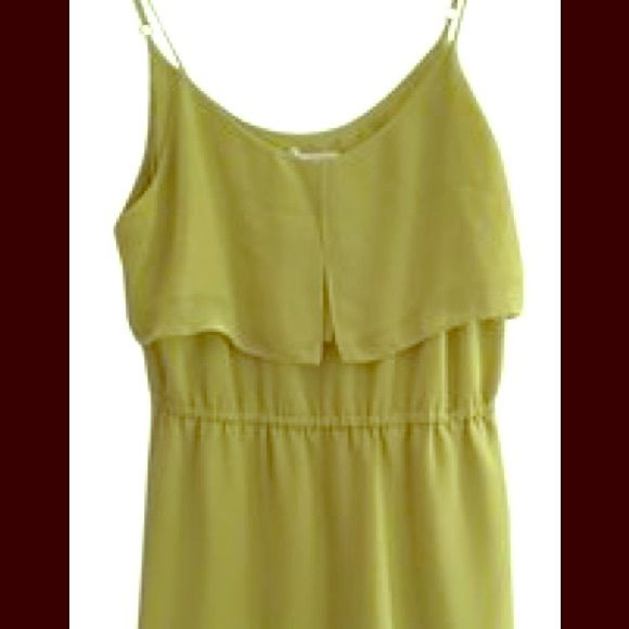 BCBG Generation  lime green dress This BCBG lime green sun dress was one of my favorites! Sadly I've outgrown it.. But it's in great condition, adjustable straps. Second picture is of the back! Open to trade! BCBGeneration Dresses Mini