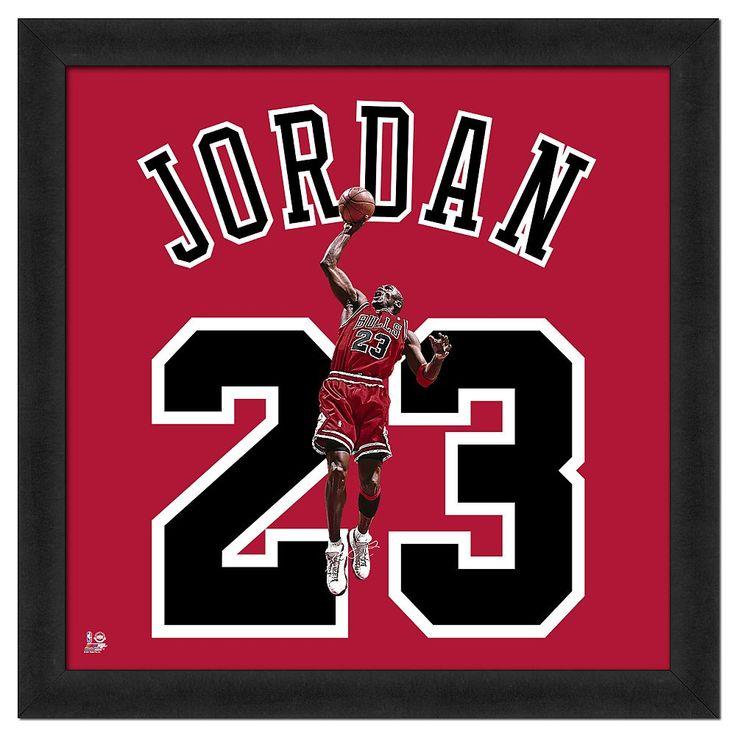 Michael Jordan Framed Jersey Photo, Multicolor