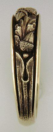 Acorn and Oak Leaf Band in 18kt Gold - Bijoux Extraordinaire
