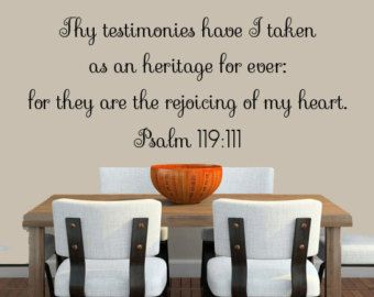 Bible Verse Wall Decal, Psalms Scripture Wall Decal KJV Bible Verse  Livingroom Bedroom Custom Decal Sayings Verses Vinyl Decal Part 66