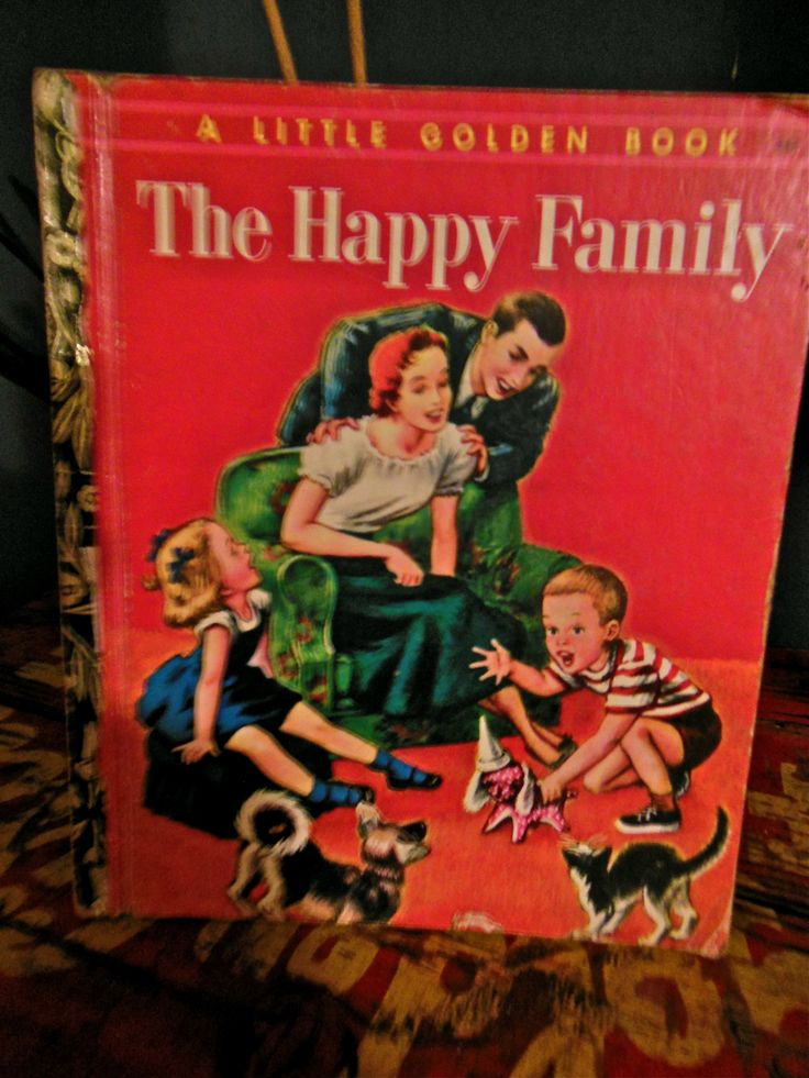1950s Golden Book, loving the cover! Happy Family...