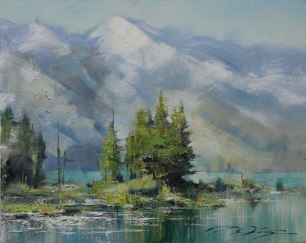 Mountain lake-40х50.2013.