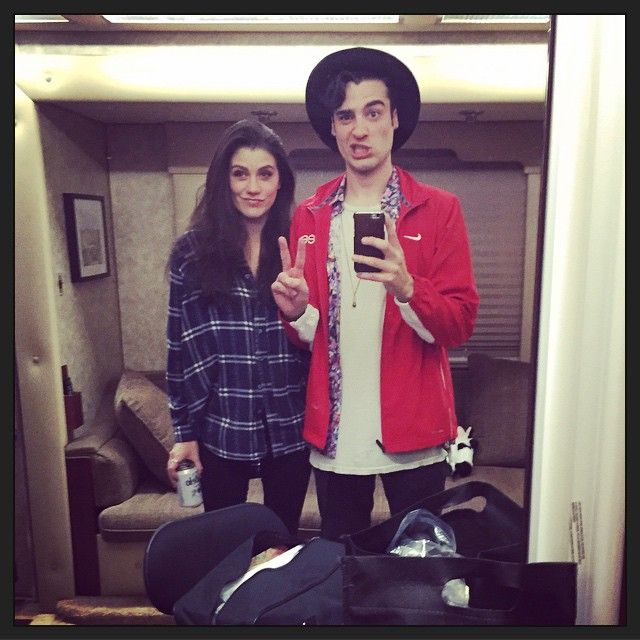 Laura Dreyfuss and Billy Lewis Jr on the last day of Glee