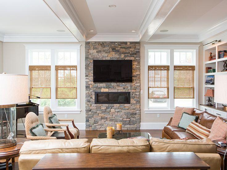 Boston Blend Ledge Natural Stone Fireplaces Veneer Fireplace